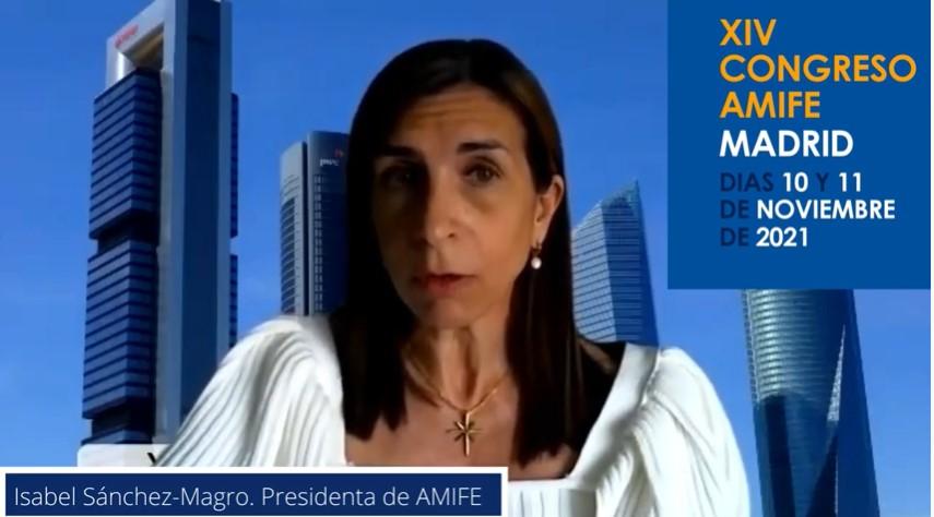 Isabel Sánchez-Magro, presidenta de AMIFE, presenta el XIV Congreso de la asociación